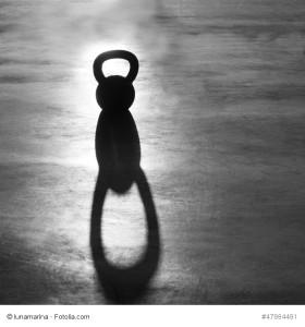 Kettlebell mit Schatten