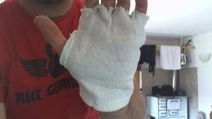 Abgeschnittene Baumwoll Handschuhe